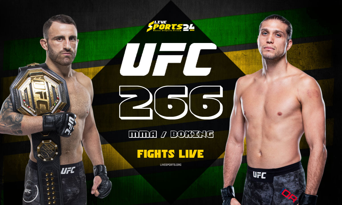 Volkanovski vs Ortega Fight: What we to know about UFC 266 Fight Card