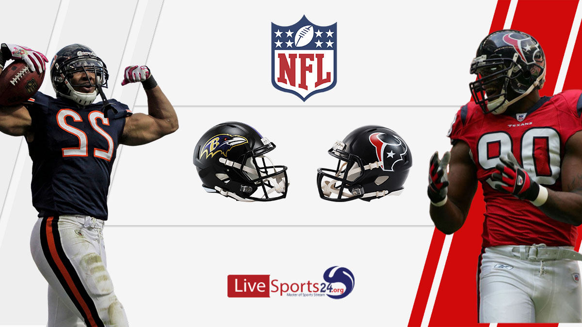 Ravens vs Texans Live: How to watch Baltimore vs Houston live Prediction & odds