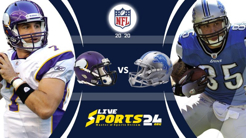 Vikings vs Lions live