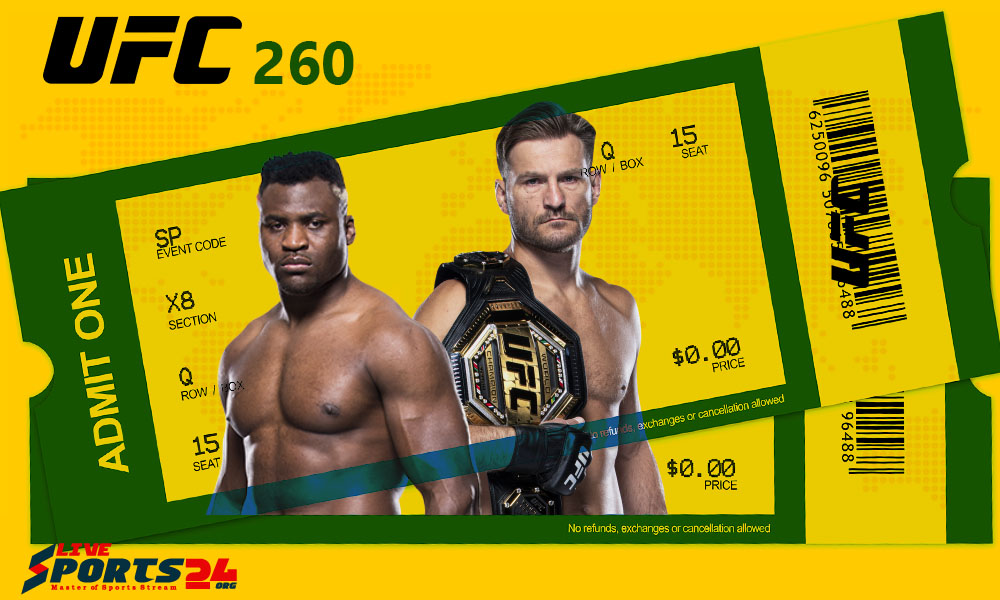Must be considered in Buying UFC 260 Tickets online