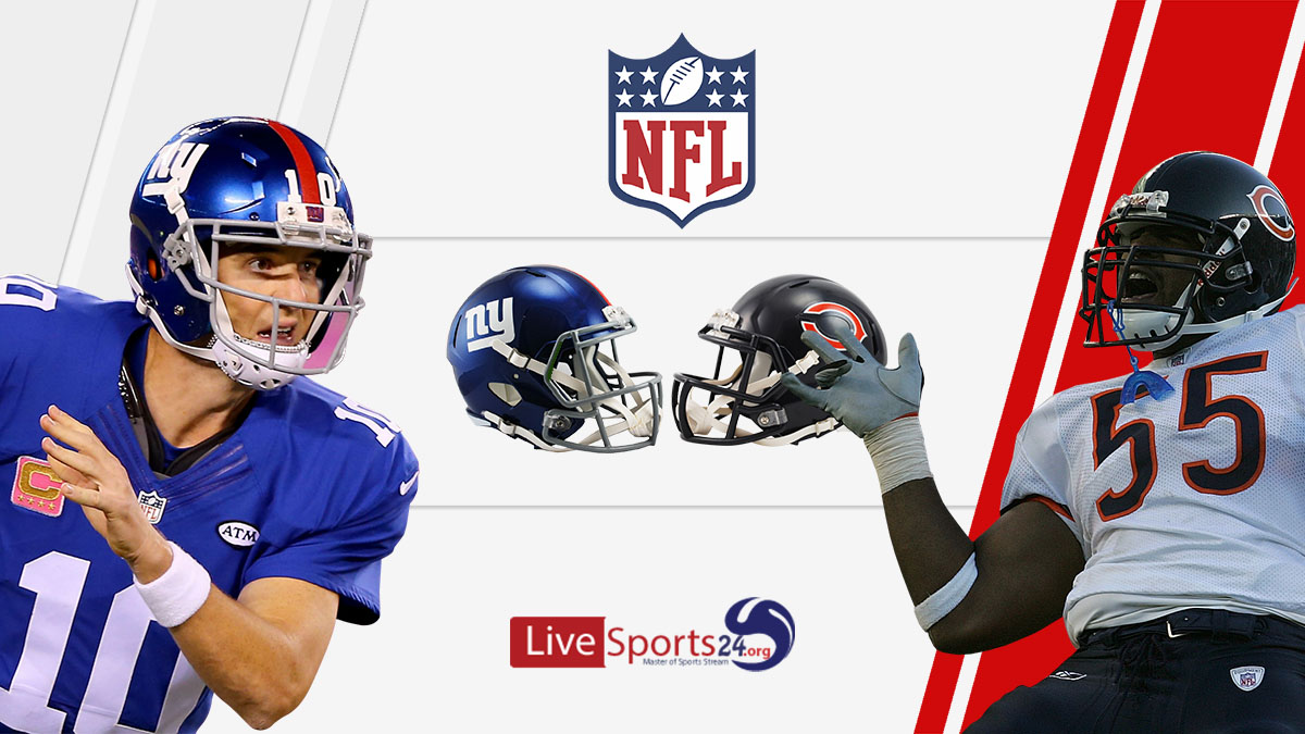 Giants vs Bears Live: How to watch New York vs Chicago live Prediction & odds