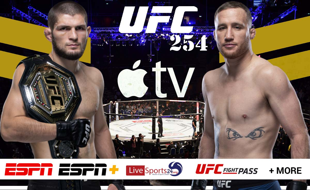 Khabib vs Gaethje | How to Watch UFC 254 on Apple TV For Free