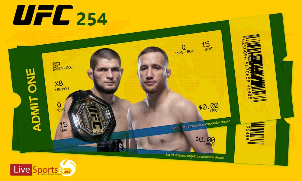 Must be considered in Buying UFC 254 Tickets online