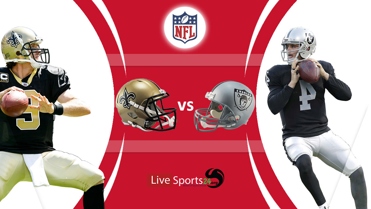 Saints vs Raiders live