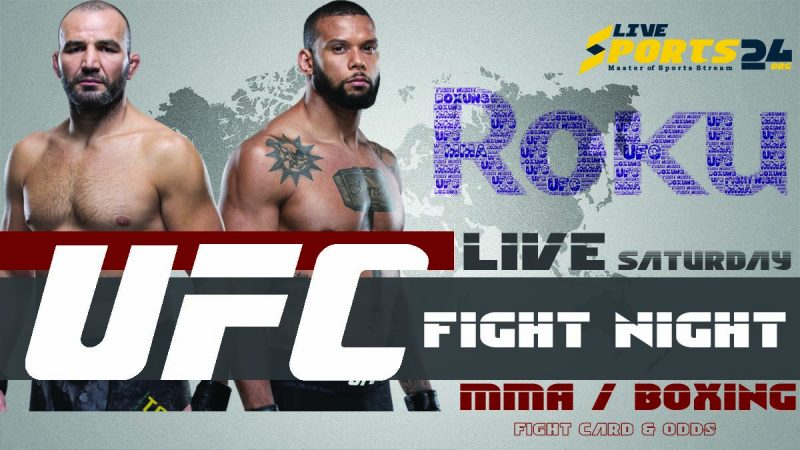 Watch UFC Fight Night 182 on Roku