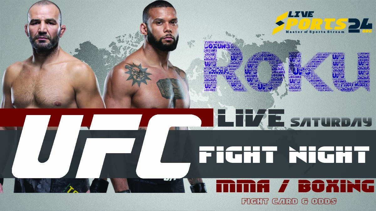 Santos vs Teixeira | How to Watch UFC Fight Night 182 on Roku For Free