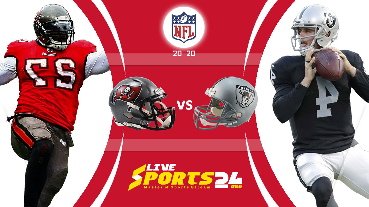Buccaneers vs Raiders Live: How to watch Tampa Bay vs Las Vegas live Prediction & odds