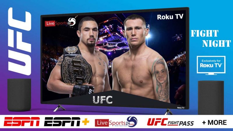 Watch UFC Fight Night 174 on Roku